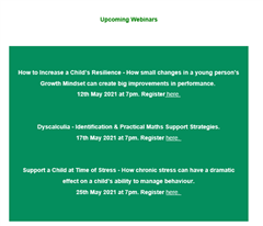 Information Webinars for Parents